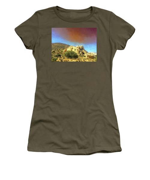 Dust Storm Over Joshua Tree Women's T-Shirt