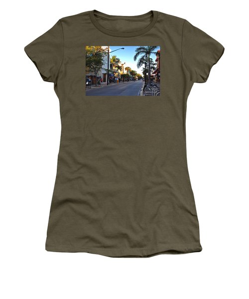 Duval Street In Key West Women's T-Shirt (Athletic Fit)