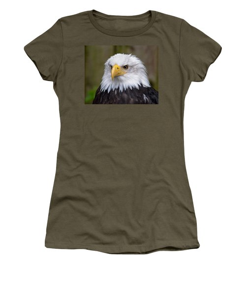 Eagle In Ketchikan Alaska Women's T-Shirt (Junior Cut) by Michael Bessler