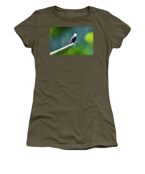 Eagle In Lake Women's T-Shirt
