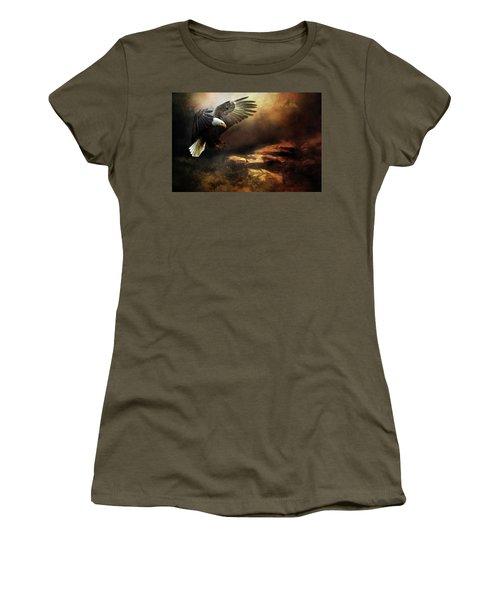 Eagle Is Landing Women's T-Shirt (Athletic Fit)