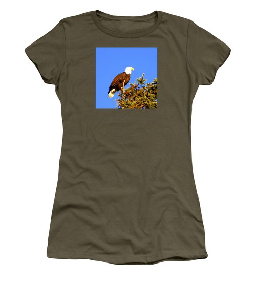 Women's T-Shirt (Junior Cut) featuring the photograph Eagle by Jerry Cahill