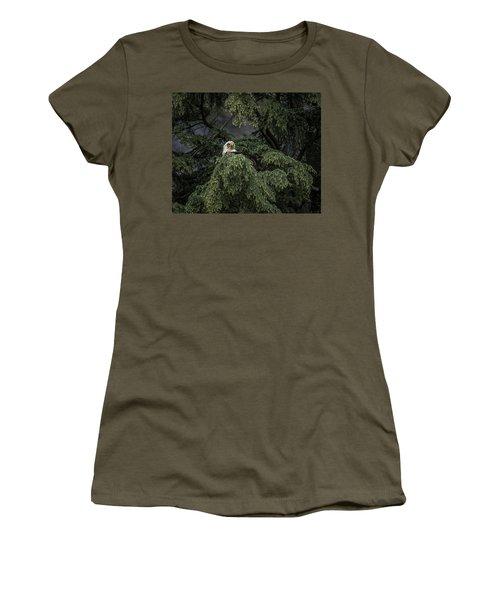 Eagle Tree Women's T-Shirt (Junior Cut) by Timothy Latta