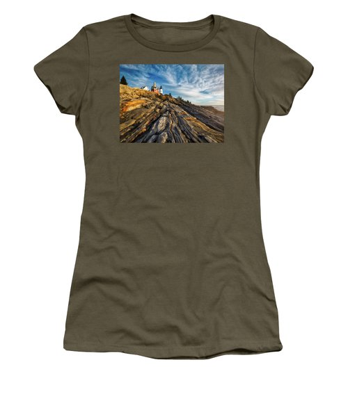 Women's T-Shirt (Junior Cut) featuring the photograph Early Morning At Pemaquid Point by Darren White