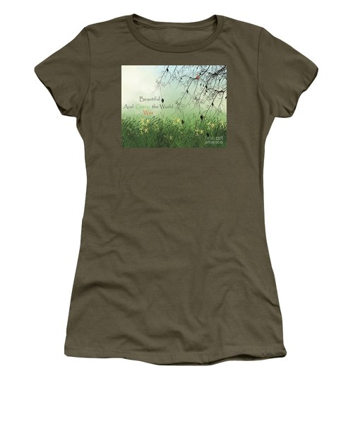 Earth Day 2016 Women's T-Shirt (Junior Cut) by Trilby Cole