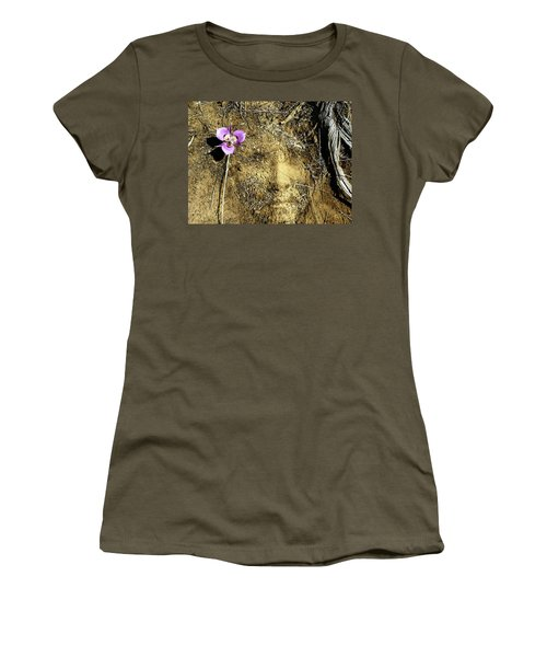 Women's T-Shirt (Junior Cut) featuring the photograph Earth Memories - Desert Flower # 2 by Ed Hall