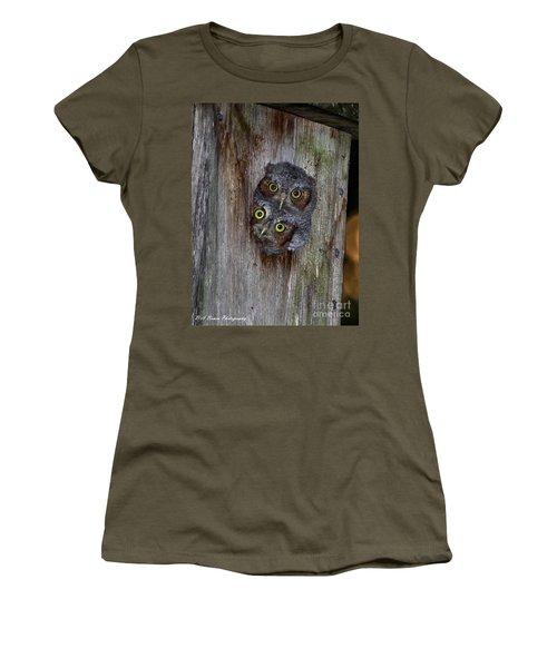 Eastern Screech Owl Chicks Women's T-Shirt
