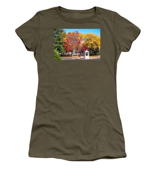 Easthampton Center In The Fall Women's T-Shirt