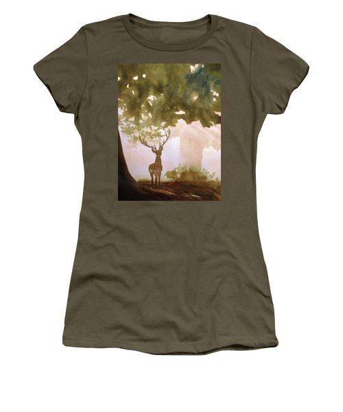 Edge Of The Forrest Women's T-Shirt (Junior Cut) by Marilyn Jacobson