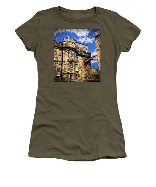 Edinburgh Castle Women's T-Shirt (Junior Cut) by Judi Saunders