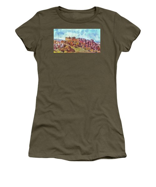 Edinburgh Skyline No 1 Women's T-Shirt (Athletic Fit)