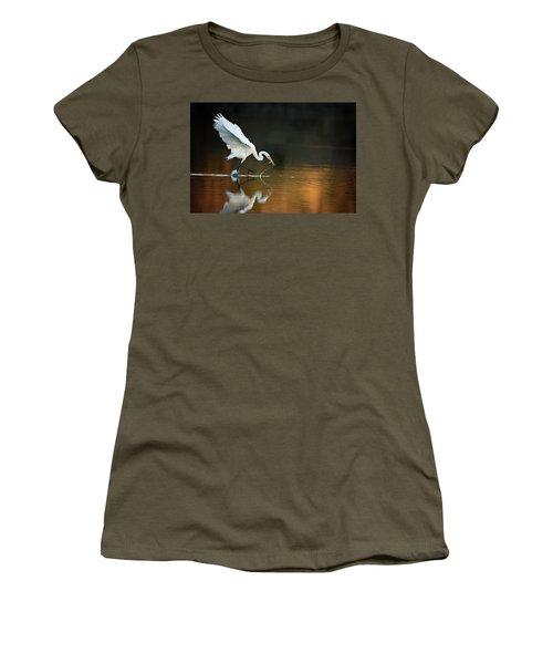 Egret At Sunset Women's T-Shirt