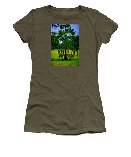 Women's T-Shirt featuring the photograph Egret Tree by Harry Spitz