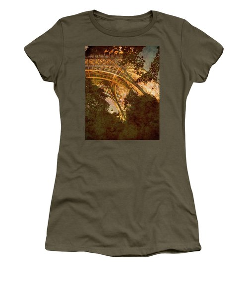 Paris, France - Eiffel Oldplate II Women's T-Shirt
