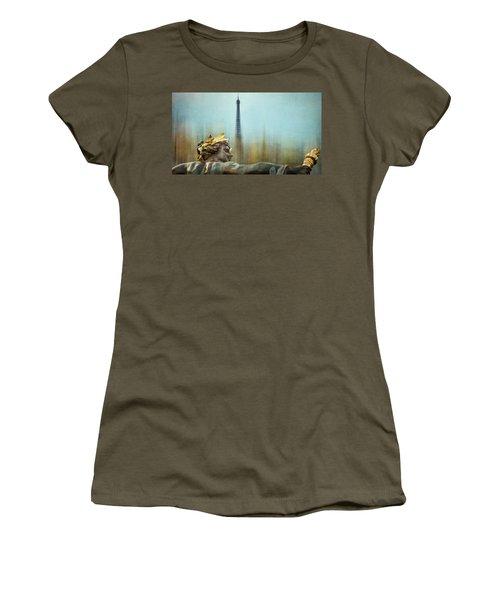 Eiffel Tower 1 Women's T-Shirt (Junior Cut) by Marty Garland