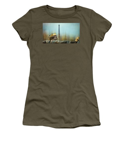 Eiffel Tower 1 Women's T-Shirt (Athletic Fit)