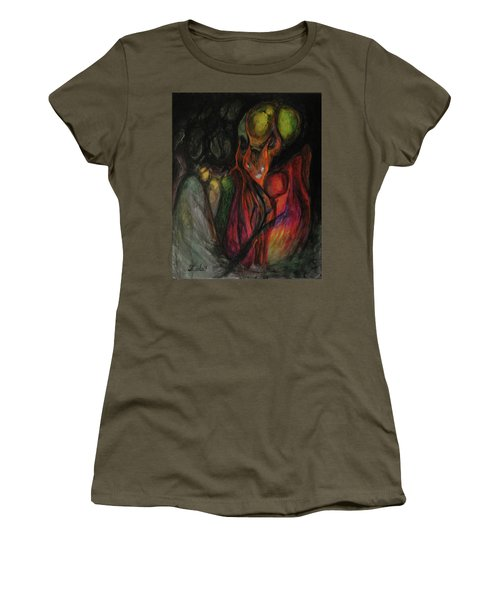Women's T-Shirt (Junior Cut) featuring the painting Elder Keepers by Christophe Ennis