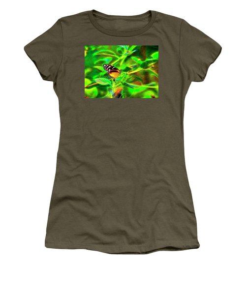 Electric Butterfly Women's T-Shirt (Junior Cut) by James Steele