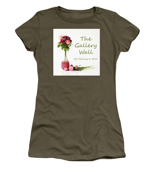 Women's T-Shirt (Athletic Fit) featuring the photograph Elegance-the Gallery Wall Logo by Wendy Wilton