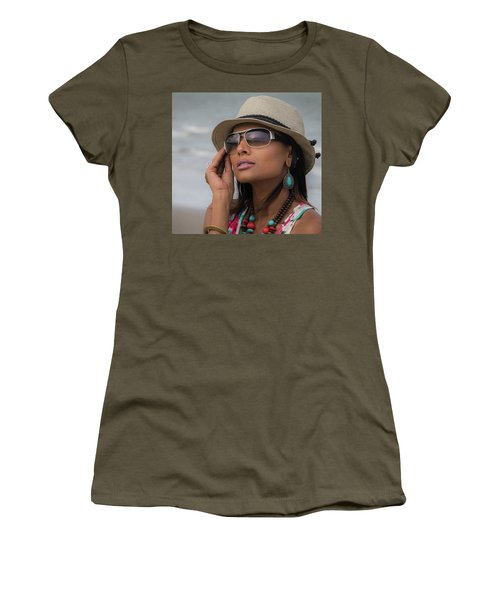 Women's T-Shirt featuring the photograph Elegant Beach Fashion by James Woody