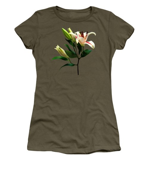 Elegant Lily And Buds Women's T-Shirt