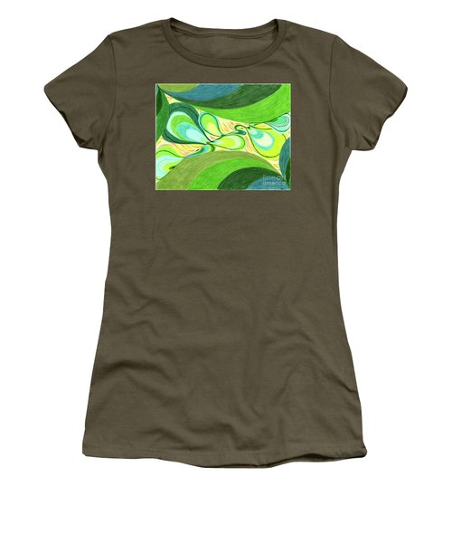 Women's T-Shirt (Junior Cut) featuring the drawing Elements by Kim Sy Ok