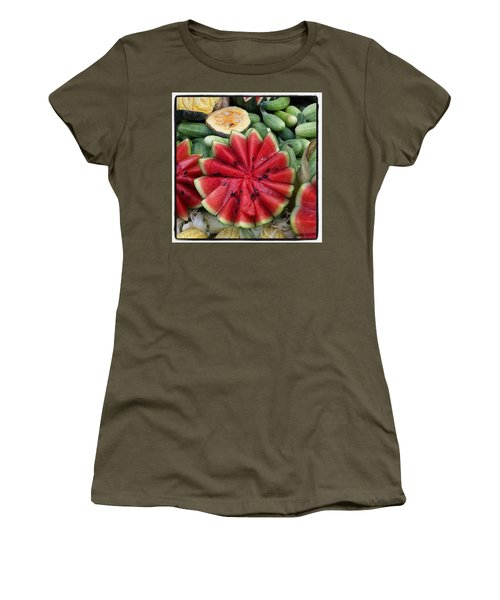 Women's T-Shirt featuring the photograph Elephant Buffet #whatiloveaboutthailand by Mr Photojimsf