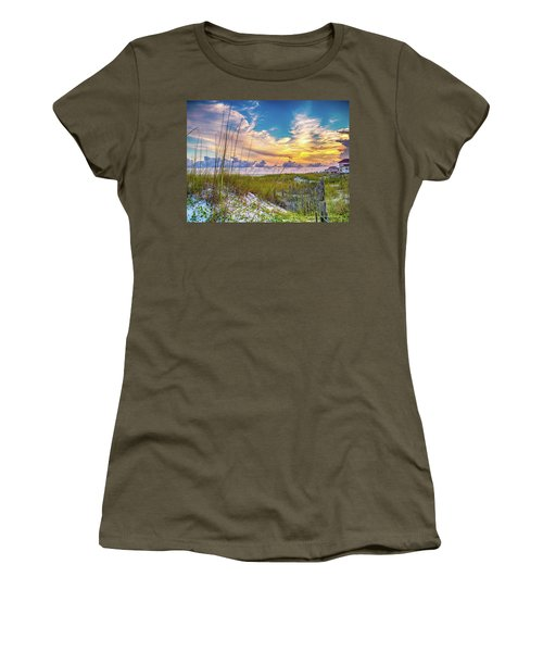 Emerald Coast Sunset Women's T-Shirt (Athletic Fit)