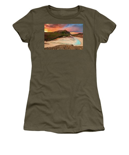 Emerald Lake Sunset Women's T-Shirt (Athletic Fit)
