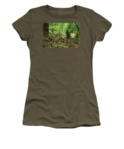 Women's T-Shirt (Junior Cut) featuring the photograph Enchanted Forest by Aidan Moran