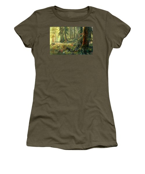 Enchanted Rain Forest Women's T-Shirt (Junior Cut) by Sherry Shipley