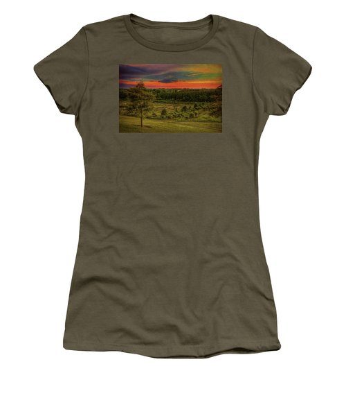Women's T-Shirt (Athletic Fit) featuring the photograph End Of Day by Lewis Mann