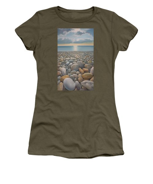 Women's T-Shirt featuring the painting End Of The Day by Caroline Philp