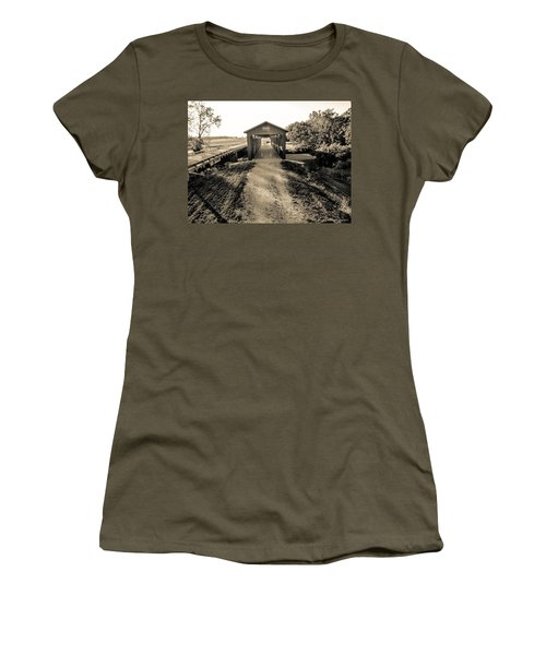 Engle Mill Covered Bridge Women's T-Shirt (Athletic Fit)