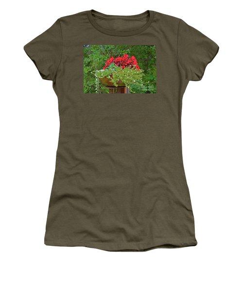 Enjoy The Garden Women's T-Shirt (Junior Cut) by Ray Shrewsberry
