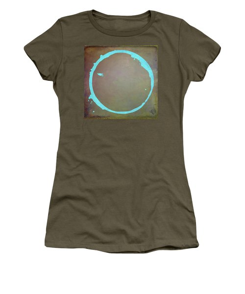 Women's T-Shirt (Junior Cut) featuring the digital art Enso 2017-2 by Julie Niemela