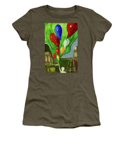 Women's T-Shirt (Junior Cut) featuring the painting Escape by Paul McKey