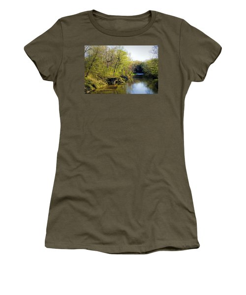 Evening Falls On Cedar Creek Women's T-Shirt