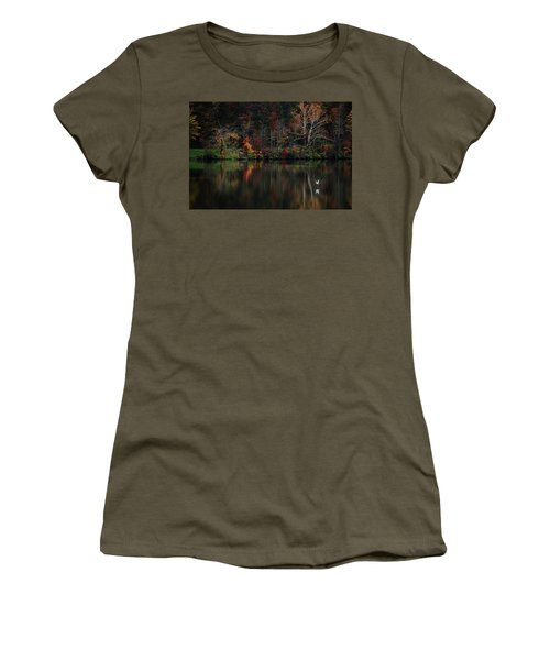 Women's T-Shirt (Junior Cut) featuring the photograph Evening On The Lake by Rowana Ray
