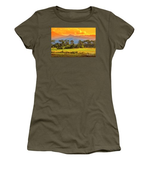Women's T-Shirt (Junior Cut) featuring the photograph Evening Scene by Charuhas Images