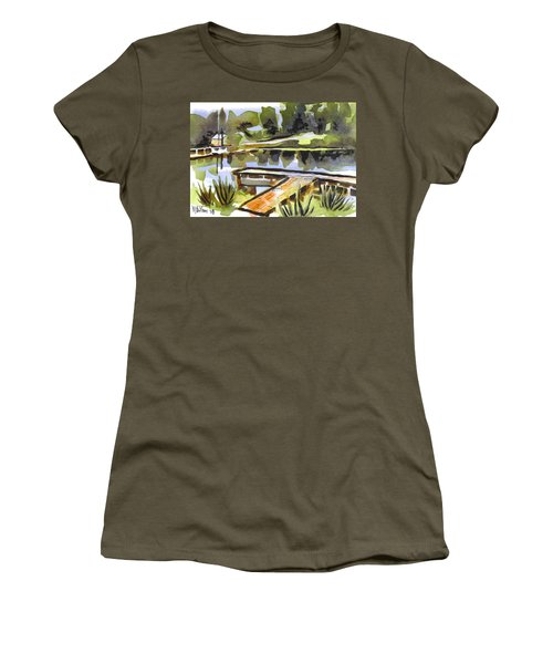 Evening Shadows At Shepherd Mountain Lake Women's T-Shirt