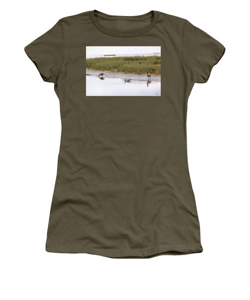 Women's T-Shirt featuring the photograph Evening Stollers by Rasma Bertz