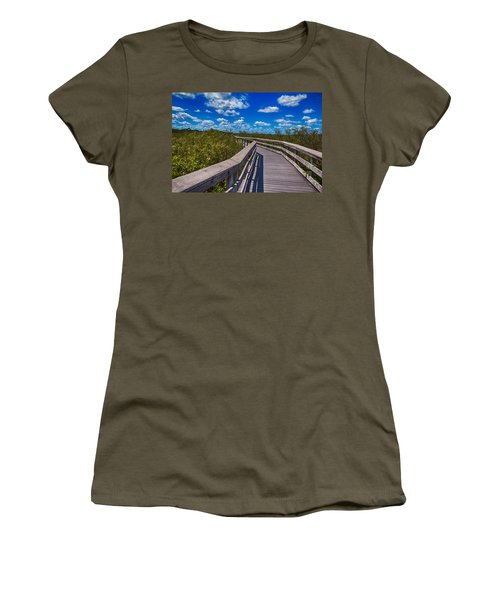 Everglades Trail Women's T-Shirt (Junior Cut) by Swank Photography