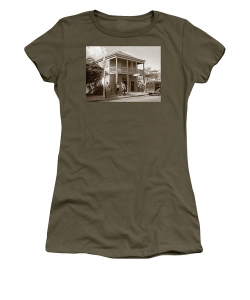 Everyone Says Hi - From Pepes Cafe Key West Florida Women's T-Shirt (Junior Cut) by John Stephens