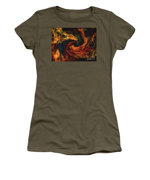 Women's T-Shirt (Athletic Fit) featuring the digital art Collision Of Evil Forces by Merton Allen