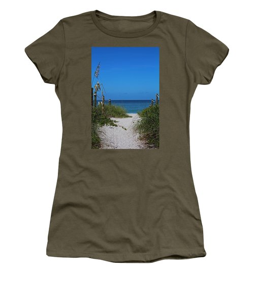 Women's T-Shirt (Athletic Fit) featuring the photograph Exclusively Captiva by Michiale Schneider