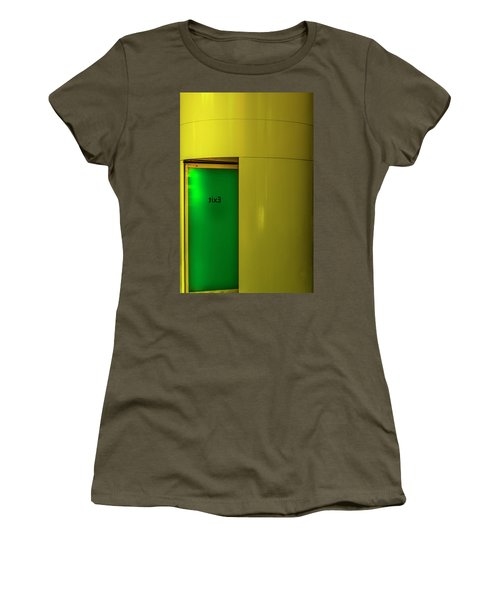 Women's T-Shirt (Athletic Fit) featuring the photograph Exit by Paul Wear