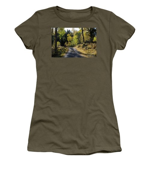 Exploring The Fall Season Women's T-Shirt (Junior Cut) by Kennerth and Birgitta Kullman