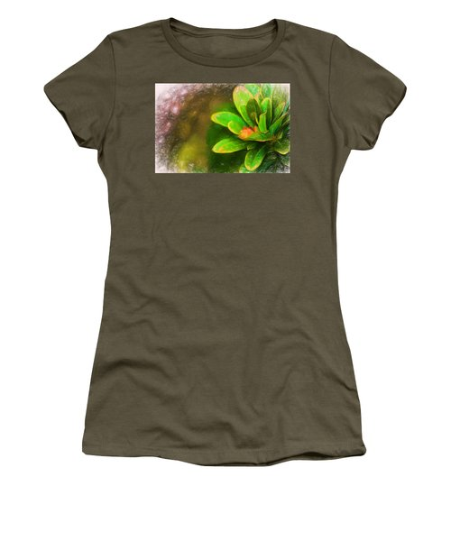 Faded Flora Women's T-Shirt (Athletic Fit)