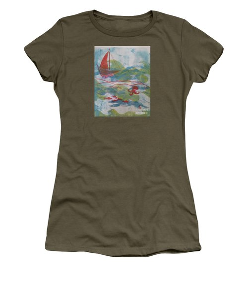 Fair Winds Calm Seas Women's T-Shirt (Junior Cut) by Cynthia Lagoudakis